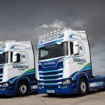 HANNON Transport Scania Tractor Units in Yard