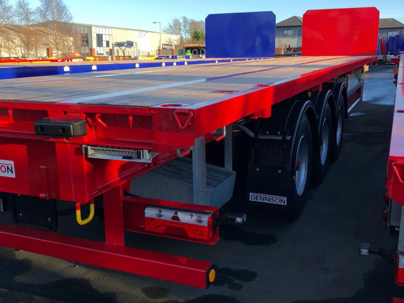2020 Dennison Flat Trailers Red Body
